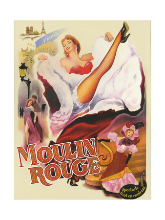Moulin Rouge Paris Giclee Print