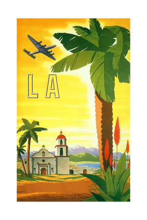 La Palm Tree Giclee Print