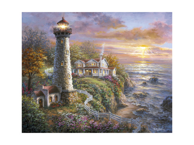 Lighthouse Haven Giclee Print by Nicky Boehme