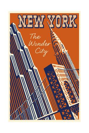 NY the Wonder City Giclee Print