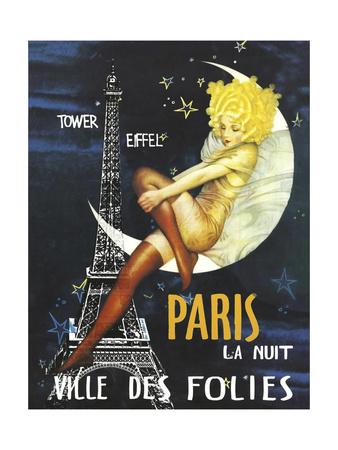 Paris Moon Giclée-tryk