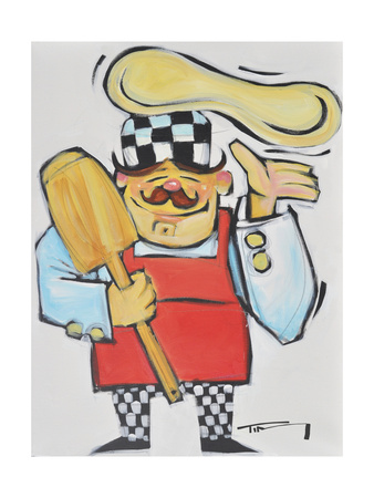 Pizza Chef Giclee Print by Tim Nyberg