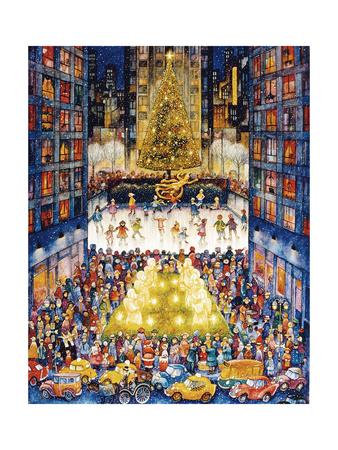 Rockefeller Center 1 Giclée-tryk af Bill Bell