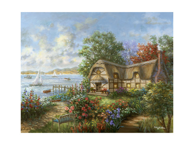 Seacove Cottage Giclee Print by Nicky Boehme