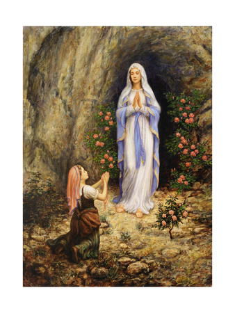 Our Lady of Lourdes Giclee Print by Edgar Jerins