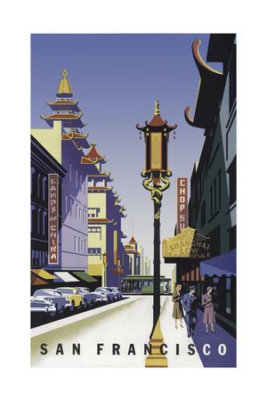 San Francisco Chinatown Giclee Print