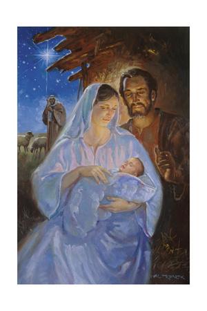 Die Heilige Familie Lámina giclée por Hal Frenck