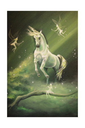 Unicorn Dances Giclee Print by Sue Clyne