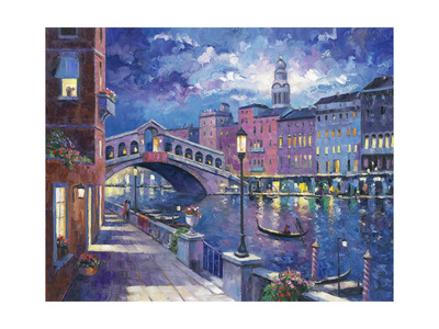 Rialto Bridge Giclee Print by John Zaccheo