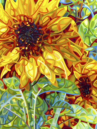 Summer in the Garden Giclee Print by Mandy Budan
