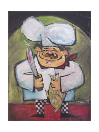 The Fish Chef Giclee Print by Tim Nyberg