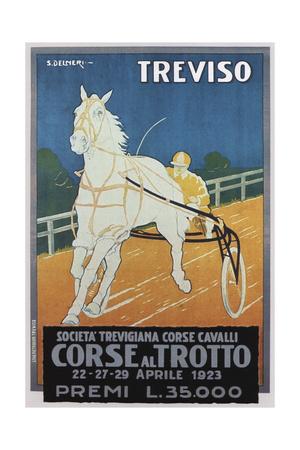 Treviso Horse Racing Giclee Print