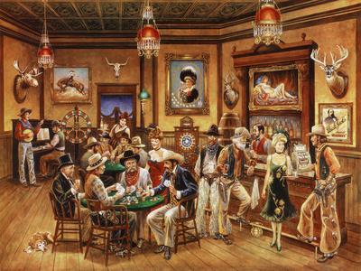 Western Saloon Giclee Print by Lee Dubin
