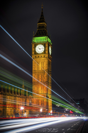 Streams over Westminster Photographic Print by Giuseppe Torre