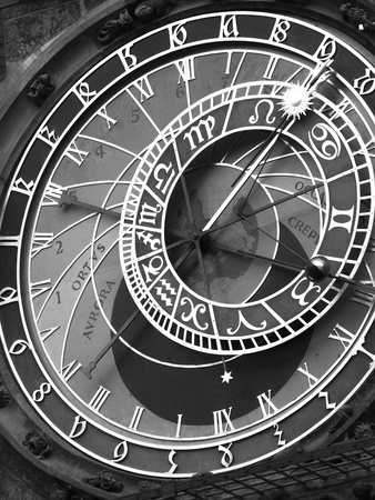 Astronomic Watch Prague 11 Photographic Print by Moises Levy