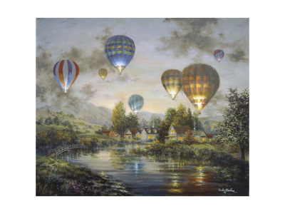 Balloon Glow Giclee Print by Nicky Boehme