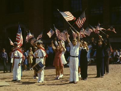 1942 Child Patriots, CT Photographic Print
