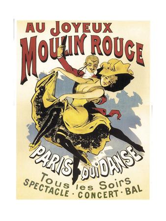 Au Joyeaux Moulinrouge Giclee Print