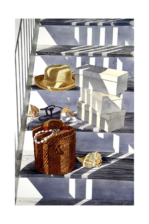 Beach Stairs Giclee Print by Laurin McCracken