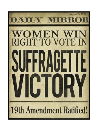 Women's right to Vote Giclee Print