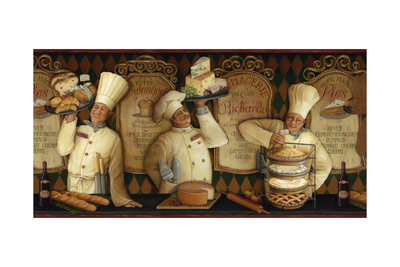 Chef Border Giclee Print by Lisa Audit
