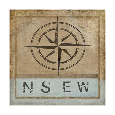 Compass Rose II Giclee Print by Karen Williams