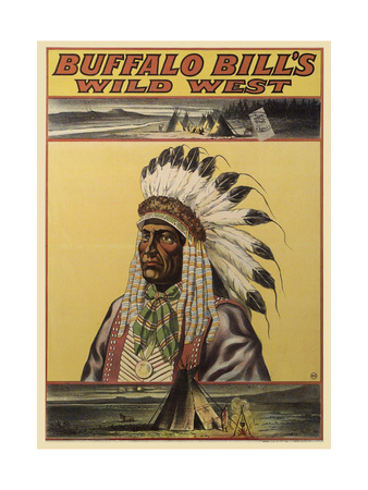 Buffalo Bills Wild West V Giclee Print