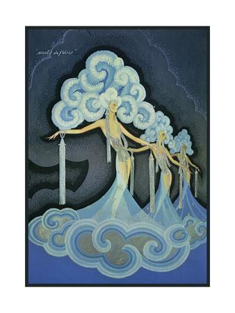 Folies Bergere Blue Giclee Print