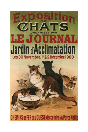 Exposition De Chats Giclee Print