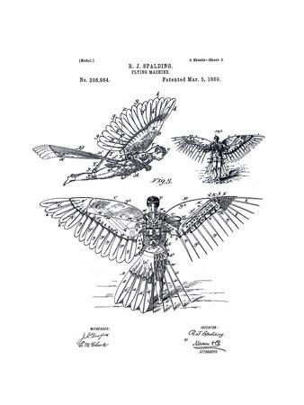 Flying Machine Giclee Print