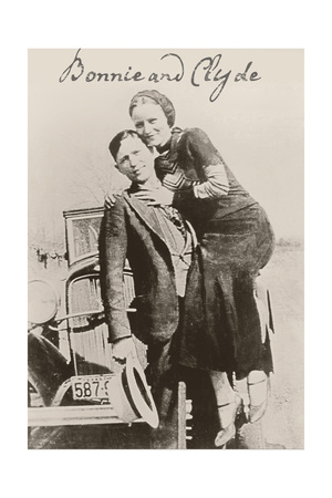 Bonnie and Clyde Ii Giclée-tryk
