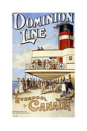 Dominion Line Liverpool Giclée-tryk