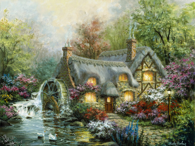 Country Retreat Giclee Print by Nicky Boehme