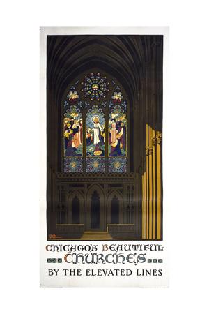 Chicago's Beautiful Churches Gicléetryck