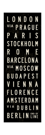 Europe Transit Sign Giclee Print by Michael Jon Watt