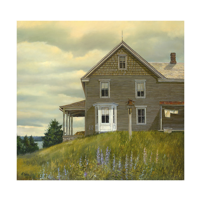 Door yard Lupines Giclee Print by Jerry Cable