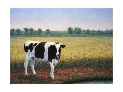 Happy Holstein Giclee Print by James W. Johnson