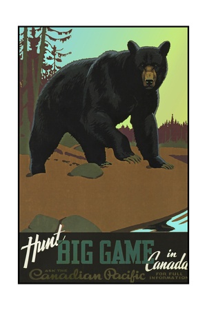 Huntbig Gamein Canada Grizzly Giclee Print