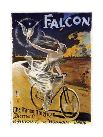 Falcon Bicycle Giclée-Druck