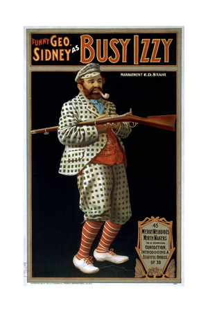 Funny George Sidney as Busy Izzy Giclee Print
