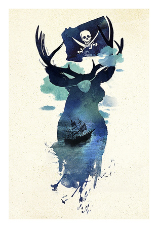 Captain Hook Prints by Robert Farkas