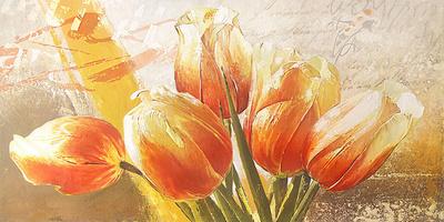 Orange Tulips Posters by Enrico Sestillo
