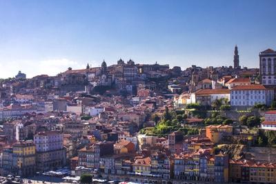 Oporto/Porto Rio Duero District of Colorful Buildings Photographic Print by Terry Eggers