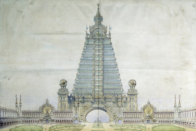 Project for the Eiffel Tower for the Universal Exposition 1900 Photographic Print