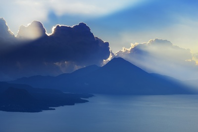 Lake Atitlan Scenic Photographic Print by Frank Krahmer