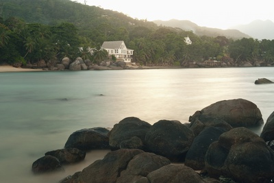 Baie Beau Vallon, Mahe, Seychelles, Indian Ocean Islands Photographic Print by Guido Cozzi