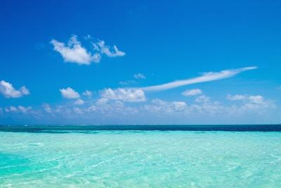 The Ocean in the Maldives Stampa fotografica di John Harper