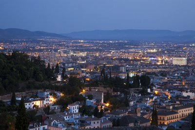 Granada City from the Mirador De San Nicolas Lookout Fotoprint av Julianne Eggers