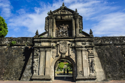 Entrance to the Old Fort Santiago, Intramuros, Manila, Luzon, Philippines, Southeast Asia, Asia Photographic Print by Michael Runkel