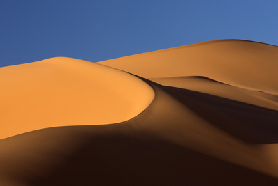 Orange Sand Dunes and Sand Ripples, Erg Chebbi Sand Sea, Sahara Desert Near Merzouga Photographic Print by Lee Frost